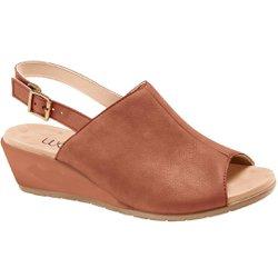 Sandália Fechada em Cima do Pé - Marrom - MA206044M - Pé Relax Sapatos Confortáveis