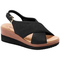 b846a3be6 Anabela Confortável - Preta - MA581026P - Pé Relax Sapatos Confortáveis