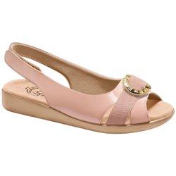 Sandália Feminina Anatômica - Rosado - MA14041RO - Pé Relax Sapatos Confortáveis