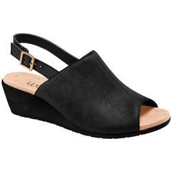 Sandália Fechada em Cima do Pé - Preta - MA206044PT - Pé Relax Sapatos Confortáveis