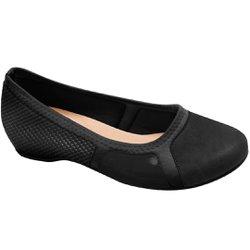 Sapatilha Confortável - Preta - MA116041PT - Pé Relax Sapatos Confortáveis