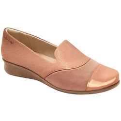 Sapato Fechado para Joanete - Pele - MA302027PL - Pé Relax Sapatos Confortáveis