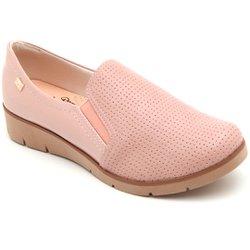 Sapato Casual Feminino - Rosado - CAL6552 - Pé Relax Sapatos Confortáveis