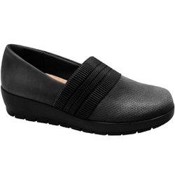 Sapato Ortopédico Feminino - Preto - MA414016PT - Pé Relax Sapatos Confortáveis