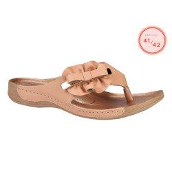 Chinelo Feminino Confort - Rosada - CAL5890 - Pé Relax Sapatos Confortáveis