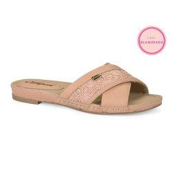 Tamanco Solado Baixo Confort - Rosada - CAL6641 - Pé Relax Sapatos Confortáveis