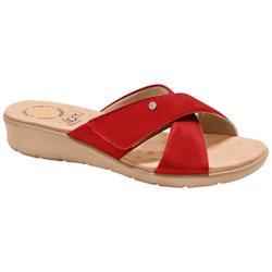 Tamanco Confort Feminino - Vermelha - MA10075VM - Pé Relax Sapatos Confortáveis