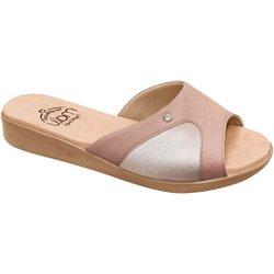Tamanco Joanete e Esporão - Bege - MA14039BI - Pé Relax Sapatos Confortáveis