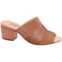 Tamanco Mule Feminino - Bege - MA176074BE - Pé Relax Sapatos Confortáveis