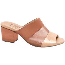 Tamanco Mule Feminino - Tricolor - MA176074TRI - Pé Relax Sapatos Confortáveis