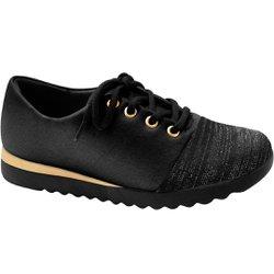 Tênis Comfort Feminino - Preto - MA796004PT - Pé Relax Sapatos Confortáveis
