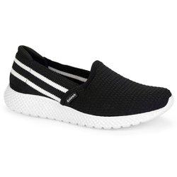 Tênis Feminino para Caminhada - Preto - KOK8703PT - Pé Relax Sapatos Confortáveis