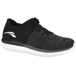 Tênis para Caminhada Feminino - Preto - KOK8210PT - Pé Relax Sapatos Confortáveis