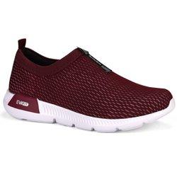 Tênis Feminino para Caminhada - Bordô - KOK8480BO - Pé Relax Sapatos Confortáveis