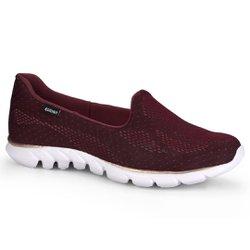 Tênis Caminhada Feminino - Bordô - KOK9994BO - Pé Relax Sapatos Confortáveis