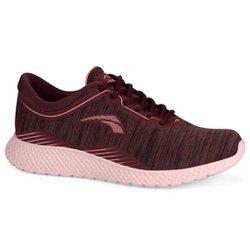 Tênis para Caminhada Feminino - Bordô - KOK8705BO - Pé Relax Sapatos Confortáveis