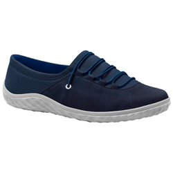 Tênis Lycra Feminino - Azul - MA421028A - Pé Relax Sapatos Confortáveis