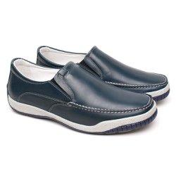 Mocassim Masculino Confort - Chumbo - FB6000C - Pé Relax Sapatos Confortáveis