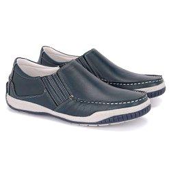 Sapato Mocassim Masculino Tamanho Grande - Chumbo - FB6011A - TG - Pé Relax Sapatos Confortáveis