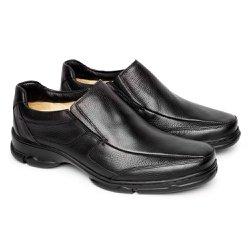 Sapato Masculino Couro - Preto - FB2003P - Pé Relax Sapatos Confortáveis