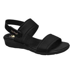 Sandália Anatômica Feminina - Preta - MA10065P - Pé Relax Sapatos Confortáveis