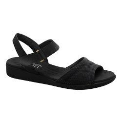 Sandália Feminina Anatômica - Preta - MA14018P - Pé Relax Sapatos Confortáveis
