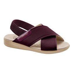 Sandália Feminina Ortopédica - Marsala - MA14031MA - Pé Relax Sapatos Confortáveis
