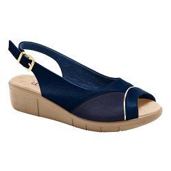 Sandália Feminina Para Joanete - Azul Marinho - MA585013AM - Pé Relax Sapatos Confortáveis