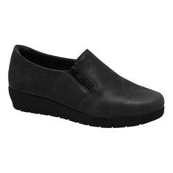 Sapato Feminino Ortopédico - Preto - MA414007P - Pé Relax Sapatos Confortáveis