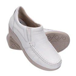 Sapato Feminino de Couro - Branco - FB8005B - Pé Relax Sapatos Confortáveis