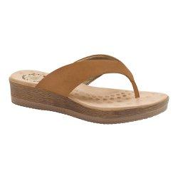 Chinelo Anatômico Feminino - Marrom - MA537008M - Pé Relax Sapatos Confortáveis