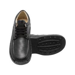 Sapato Masculino Casual - Preto - FB16000P - Pé Relax Sapatos Confortáveis