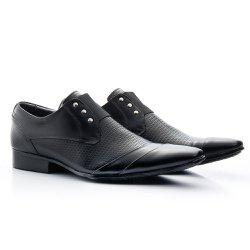 e38b20d5c9 Sapato Social Estampado cor Preto Ref. 1484-378