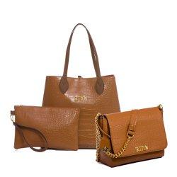 e39a055bbf Bolsa Feminina Kit Com 3 Bolsas Grande Pequena E N..