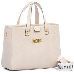 0497e9910 Bolsa Feminina Selten de Mão com Alça Transversal Branco | SELTENBRASIL