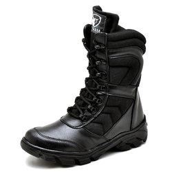 af8ad0ceb114c Bota Coturno Militar Top Franca Shoes Preto - TOP FRANCA SHOES