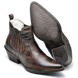 3635577e1e7 Bota Country Masculina Bico Fino Top Franca Shoes .