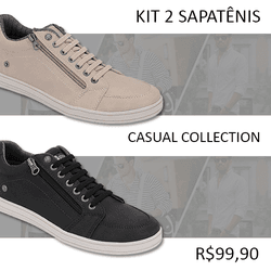 480b25bbf7 Sapatênis Casual Masculino Kit 2 Pares - CR