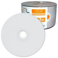 CD-R DATAPRINT 700MB / 52X - PRINTABLE C/100UN.