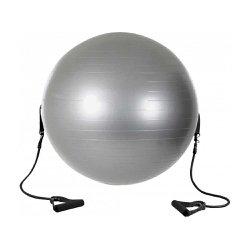 Bola Suiça para Pilates 65cm com Elástico