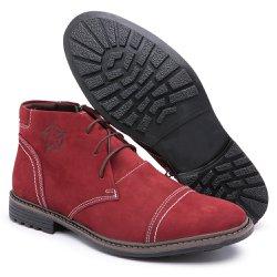 Bota Coturno Masculino Diconfort Calçados C/ Ziper Bordo