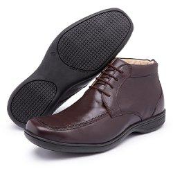 Sapato Social Conforto Anatômico Diconfort Calaçados Cafe