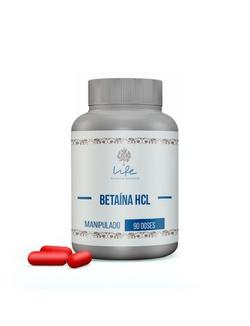 Betaína HCL 300mg - 90 Doses - Betaina - LIFEMANIPULACAO