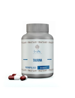 Taurina 250mg - 30 Doses - 48 - LIFEMANIPULACAO