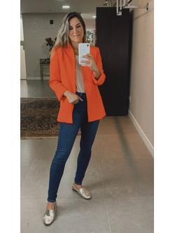 Blazer longo Slim Coral - Patricia Rios