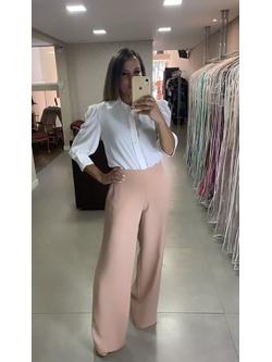 Calça Pantalona Nude - Patricia Rios