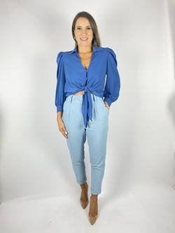Calça Linho Azul Claro - Patricia Rios