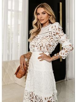 Blusa lace Off White - Patricia Rios