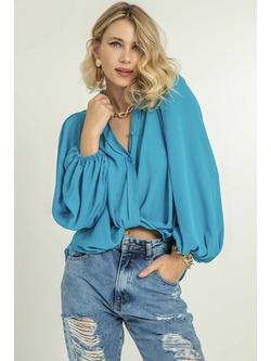 Camisa Torção Azul - Patricia Rios