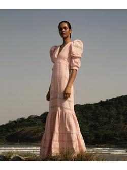 Vestido Laise Rosê Quartzo - Patricia Rios